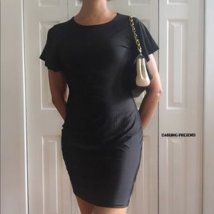 BLACK BELL SLEEVE LBD SIZE M 4-6